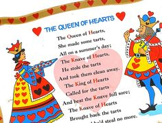 The Queen Of Hearts Red Nursery Rhymes Tray