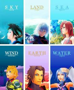 KH Name Meanings. Sora Riku and Kairi are Japanese and Ventus Terra and Aqua are Latin. I like the transition from Japanese to Latin.
