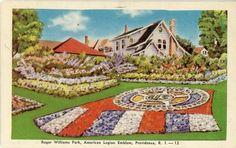 1947 postcard. Roger William Park, Providence, RI