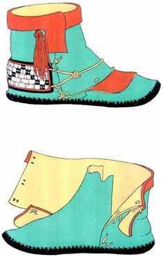 beautiful, pattern too! beautiful, pattern too! Moccasins Outfit, Baby Moccasins, Moccasins Pattern, Moccasin Boots, Shoe Boots, Art Du Cuir, Native American Moccasins, Beaded Moccasins, How To Make Shoes