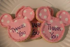 Minnie Mouse Birthday Party Favors  MInnie Mouse cookies
