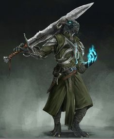 m Dragonborn Fighter Eldritch Knight Greatsword Dagger casting male urban City undercity med Fantasy Character Design, Character Concept, Character Inspiration, Character Art, Dungeons And Dragons Characters, Dnd Characters, Fantasy Characters, Fantasy Races, Fantasy Armor