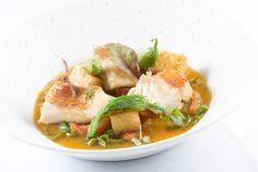 Scorfano in guazzetto con peperoncini verdi e pomodori brasati | L'Olivo Restaurant - Two Michelin Stars | Anacapri, Italy