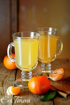 Hot drink with orange juice and honey