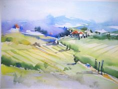 "anelest (the artist) on Flickr 013  Aquarell ""Toscana"""