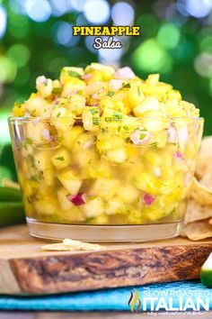 Pineapple Salsa is the perfect blend of sweet and heat. With an added special addition to really take this simple recipe up a notch, your guests will be guessing what the secret ingredient is all night long.