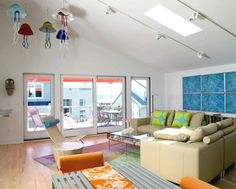 Artful Beach House Decor in Bright Colors
