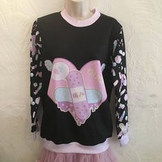 Hey, I found this really awesome Etsy listing at https://www.etsy.com/listing/541759825/ouch-bandaid-heart-menhera-sweater