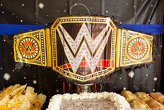 WWE Birthday Party Ideas for Kids - Moms & Munchkins - - These WWE birthday party ideas are perfect for the little wrestling fans in your home. Fun ideas for games, loot bags, food and more! Wrestling Birthday Parties, Wrestling Party, Wwe Birthday, Superman Birthday Party, Birthday Party Desserts, Birthday Party Centerpieces, Birthday Party Tables, Wwe Party Supplies, Fun Ideas