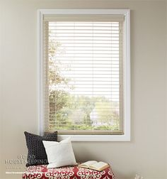 POLYMER BLINDS Durable polymers create blinds built to endure everyday family living. ~A concise assortment in today's popular colors ~Perfect for kitchens, bathrooms and laundry rooms Window Coverings, Window Treatments, Best Blinds, Horizontal Blinds, Wood Windows, Black Windows, Faux Wood Blinds, Shades Blinds, Good Housekeeping
