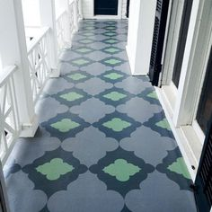 Love this floor - Moroccan Floor deal Stencil from sunnygoode.com