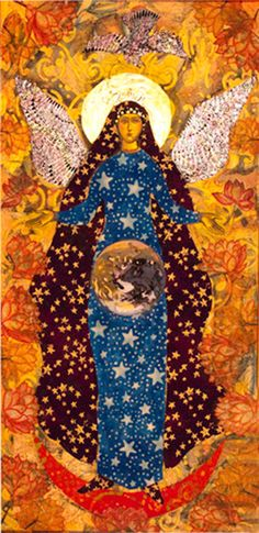 Invocation and Prayer ☽ Navigating the Mystery ☽ Angel With the Earth and Moon by MarieLoParco