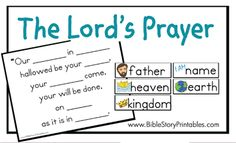 P is for Prayer. Lord's Prayer picture fill in the blanks.