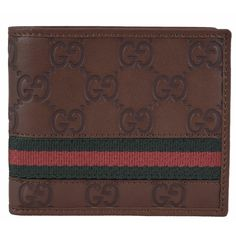 New Gucci Men's 295419 GG Guccissima Web ID Bifold Wallet