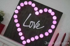 marquee lights from recycled k cups valentinesday, crafts, fireplaces mantels, how to, repurposing upcycling, seasonal holiday decor, valentines day ideas