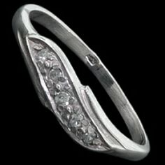 Silver ring, CZ,  pave Silver ring, Ag 925/1000 - sterling silver. With stones (CZ - cubic zirconia). A fine ring with five round zircons set into silver pave. The stones are set by goldsmiths, not glued!