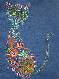 Flower Cat | Machine embroidery design