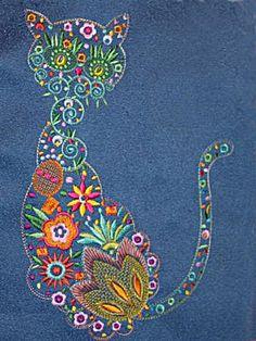 Flower Cat | Machine embroidery design
