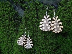 Pinecone earrings small 26€ and big 29€. www.pinjapuu.com/shop