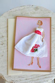 "Lovely Lady ""Audrey""  Vintage Handkerchief."