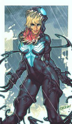 Spider-man y Marvel Fem. Marvel Dc Comics, Heros Comics, Marvel Venom, Marvel Vs, Anime Comics, Marvel Heroes, Venom Spiderman, Comic Book Characters, Marvel Characters
