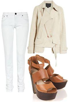 - Deconstructed suede biker jacket /Alexander Wang - Mid-rise skinny jeans /Victoria Beckham - Denim LIBBY Wooden Platform Sandals /Topshop teetharejade.com
