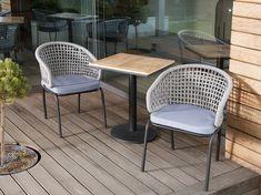 Tuinstoel grijs/zwart set van 2 PALMI | Koop nu online en betaal later. Gratis bezorging en retourneren Outdoor Furniture Sets, Outdoor Decor, Table, Home Decor, Products, Grey, Black, Contemporary Chairs, Decoration Home