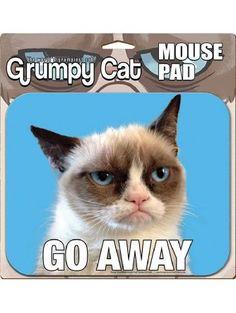 Ata-Boy Grumpy Cat Go Away Mouse Pad ❤ Ata-Boy