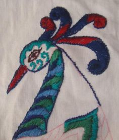 This week's stitch on SSS challenge is Knotted satin stitch. This a broad version of rope stitch. The working of the stitch is explained in Queenie's blog. I have been interested in glazig embroide…