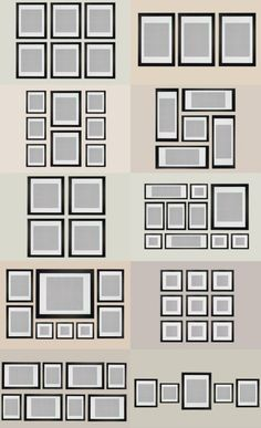 How To: IKEA Ribba Frame Gallery Wall frame's shapes together so How To: IKEA Ribba Frame Gallery Wall x frame put in place Ikea Gallery Wall, Gallery Wall Layout, Gallery Wall Frames, Frames On Wall, Ribba Frame, Art Gallery, Picture Arrangements, Photo Arrangement, Frame Layout