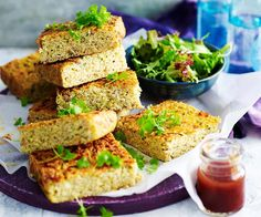 This tasty savoury slice is the perfect lunchbox treat. Packed full of plant-based protein and fibre, it's a great way to enjoy filling food that's super good for you. Gluten Free Zucchini Slice, Zucchini Quinoa, Savoury Slice, Filling Food, Savoury Baking, Free Breakfast, Everyday Food, Light Recipes, Kitchens