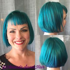 Blue and green Pravana vivids by @AmandaSweetHair