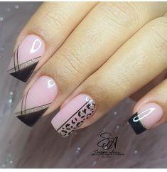 Nail Art Designs 2016, Pink Nail Designs, Acrylic Nail Designs, Nail Art Hacks, Gel Nail Art, Gel Nails, Trendy Nail Art, Stylish Nails, Really Cute Nails