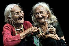 I want to look like these women when I grow old. HAPPY.