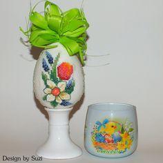 Design by Suzi: Polystyrénové vajíčka Cross Stitch Bird, Crossstitch, Easter Eggs, Jar, Spring, Design, Decor, Scrappy Quilts, Cross Stitch