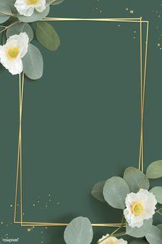Framed Wallpaper, Flower Background Wallpaper, Flower Phone Wallpaper, Background Vintage, Background Patterns, Frame Background, Watercolor Background, Summer Backgrounds, Cool Backgrounds