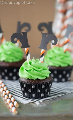Wicked Witch Cupcakes - Your Cup of Cake