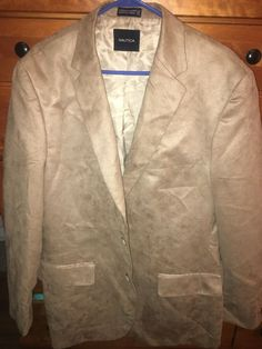 b22041cdfd NAUTICA MENS JACKET SIZE HAS BEEN WORN   dry cleaned in the past but not  recently! Beautiful jacket with two buttons down front polyester