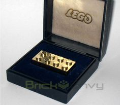 World's Most Expensive LEGO Brick. It's 25.65g of 14K gold. Given to LEGO employees that had 25 years of employement at the Hohenwestedt, Germany factory.