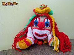 Clown-Mädchen Bimbolina, die Kuschel Puppe für Fasching - ge - MyPatterns