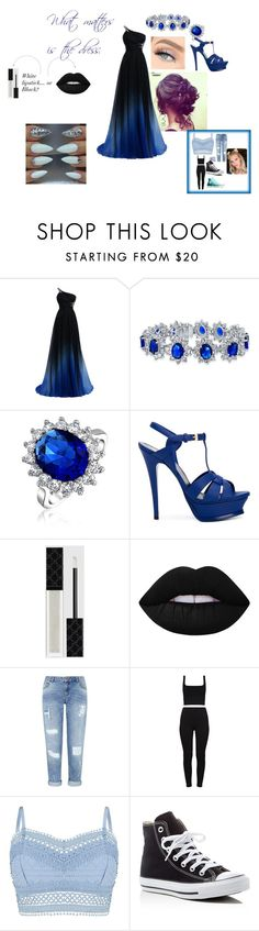 """""""Prom + The AfterParty P2"""" by angleighgab on Polyvore featuring Bling Jewelry, Yves Saint Laurent, Gucci, Lime Crime, Miss Selfridge, Lipsy, Converse and promseason"""