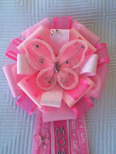 Butterfly Baby Shower Corsage Girl Baby Shower por iogtreasures