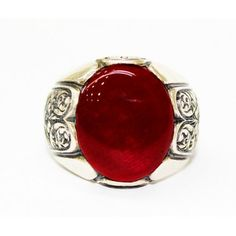 Sterling Silver 925 men ring ,anatolia design with fire amber stone