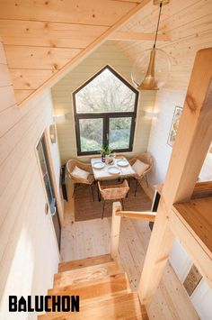 This is the Little Prince Tiny House on Wheels (Le Petit Prince) built by Baluchon in France and you're welcome to come and check it out to learn more about it inside! Small Tiny House, Tiny House Cabin, Tiny House Living, Tiny House Plans, Tiny House On Wheels, Living Room, Tiny House Builders, Tiny House Design, Tiny House Movement