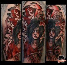 25 Hair-Raising Zombie Geisha Tattoos