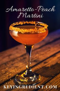 Amaretto-Peach Martini