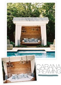 Cabanas aren't just for the rich and glamorous anymore. If you find yourself sans pool but with an awesome old porch, take a note from th...