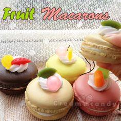 fruit cute macaron phone strap accessory squishy kawaii shop australia cheap
