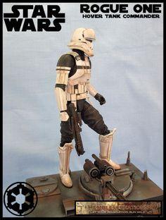 Rogue One Hovertank Commander (Star Wars) Custom Diorama / Playset