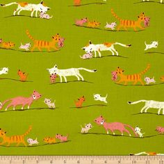 Tiger Lily Fabric by Heather Ross: by CedarandNeedleFabric on Etsy